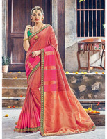 Indian ethnic designer sari bollywood party wear pure silk saree