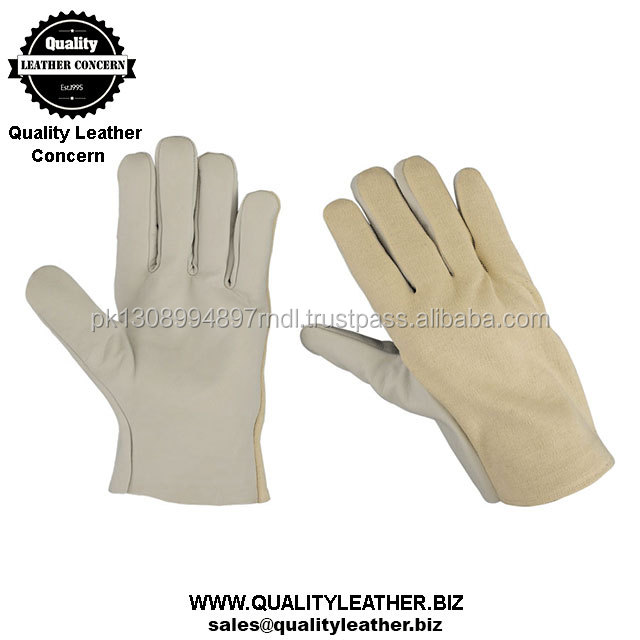 Men's Size leather Driver's Pile Lined Gloves