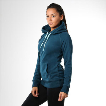 customized casual slim fit hoodie for female