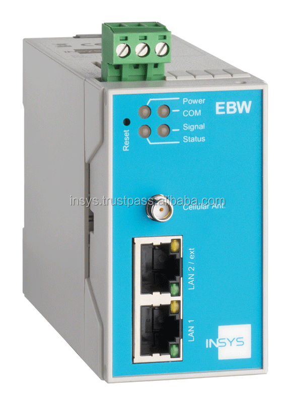 EBW-H100 Mobile Radio Router, 2 Port Switch, Firewall, Full NAT, Programmable