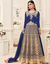 designer wedding long banarasi silk salwar kameez suits design