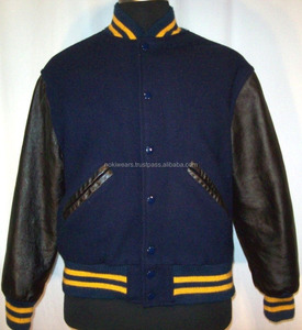 American college Letterman Varsity Jacket Men Fashion wholesale customized wool and leather best quality varsity jackets for men