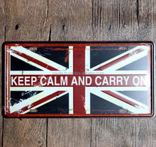 UK United Kingdom Flag Souvenir Car Licence Plate Vintage Embossed Metal Sign Home Pub Bar Cafe