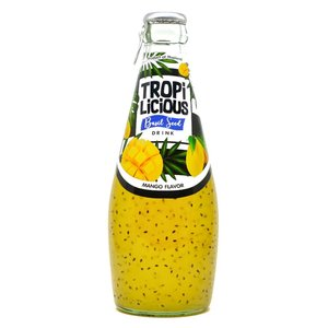 TROPILICIOUS MANGO BASIL SEED DRINK Natural flavor PREMIUM QUALITY Herbal drink from Thailand