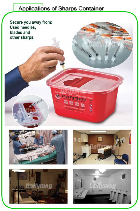 2018 plastic Medical Waste sharps Containers small disposal