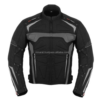Gray Motorbike Armoured Jacket Motorcycle Waterproof customized Motorbike Jacket 600d Cordura Fabric CE Approved