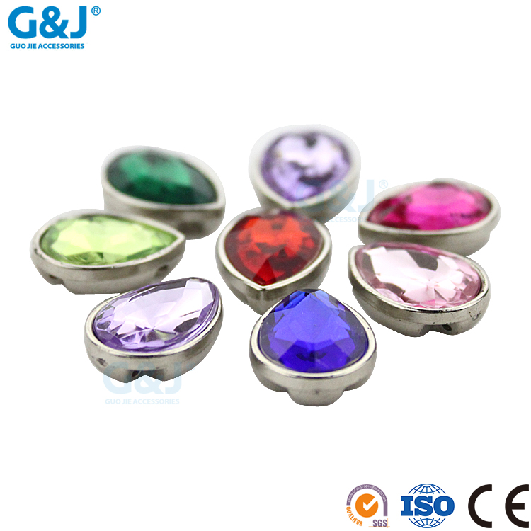 guojie brand new design Clothing accessories customized tear shape acrylic stone