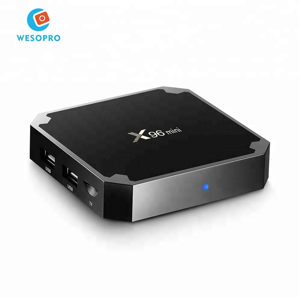X96 mini Android 7.1 TV BOX 2GB DDR3 16GB ROM Amlogic S905W <strong>Quad</strong> Core Smart Set Top Box H.265 2.4GHz WiFi 4K <strong>HD</strong> Media Player