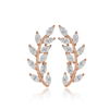 Fashion Baguette Stone Leaf Design Earring Turkish Wholesale 925 Sterling Silver Jewelry