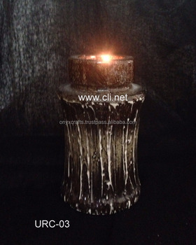 Marble Tree Root Color Funeral Urn Candle Holder in wholesale Price