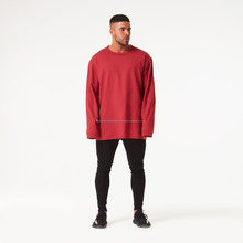 wholesale clothing high quality man's tshirt oversized long sleeve t shirt with contrast colors