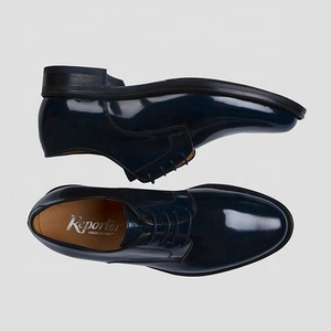 Lace-up derby shoe in leather