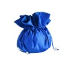 Beautiful Royal Blue Customised Silk Drawstring Bag