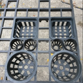 Quality Plastic planting tray with match net pots set For Orchid