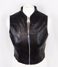 Hottest Design Leather Motorcycle Vest Ladies