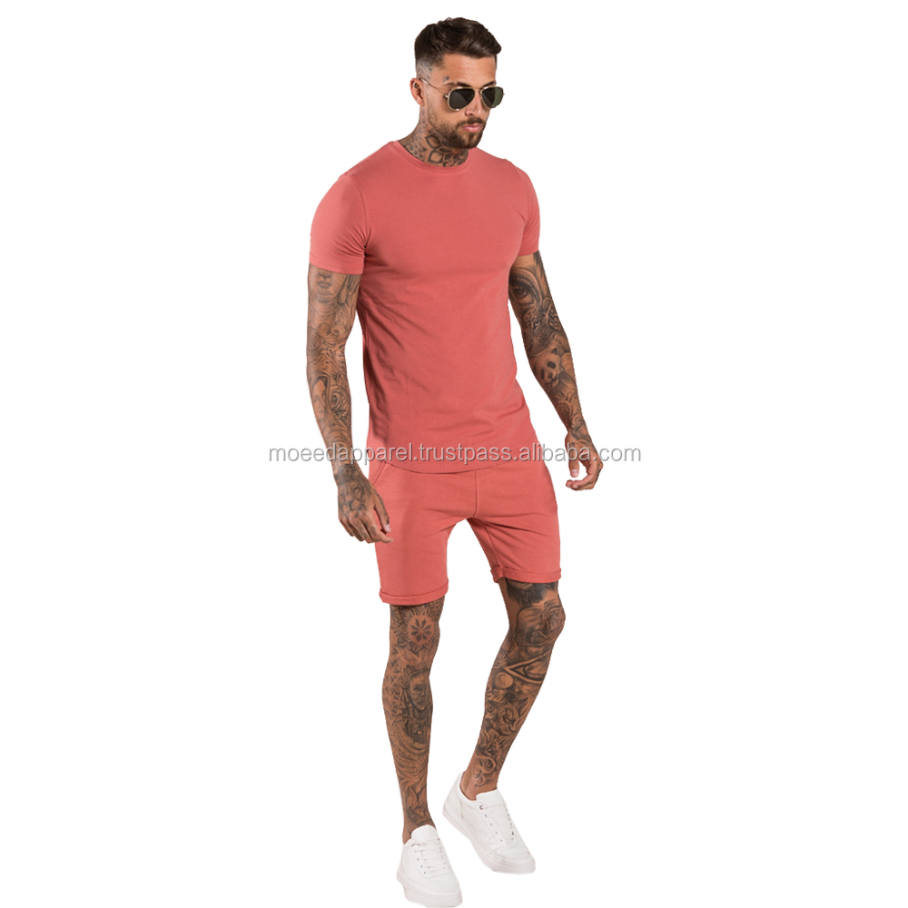 TS-300202 Charcoal 100% Cotton Jersey T-Shirts and Shorts Twinsets