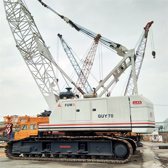 High Efficiency Hydraulic System QUY70 Used Fuwa Crawler Crane Import From China Original