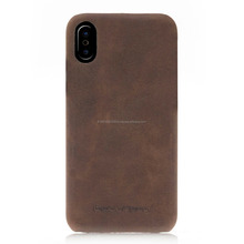 Leather mobile phone back cover case for iphone X