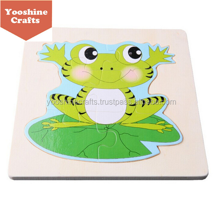 Custom growth of frog wooden Jigsaw Puzzle