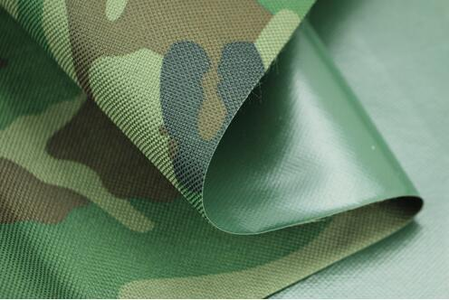 PU Coated Waterproof Camouflage Fabric for Rainwear