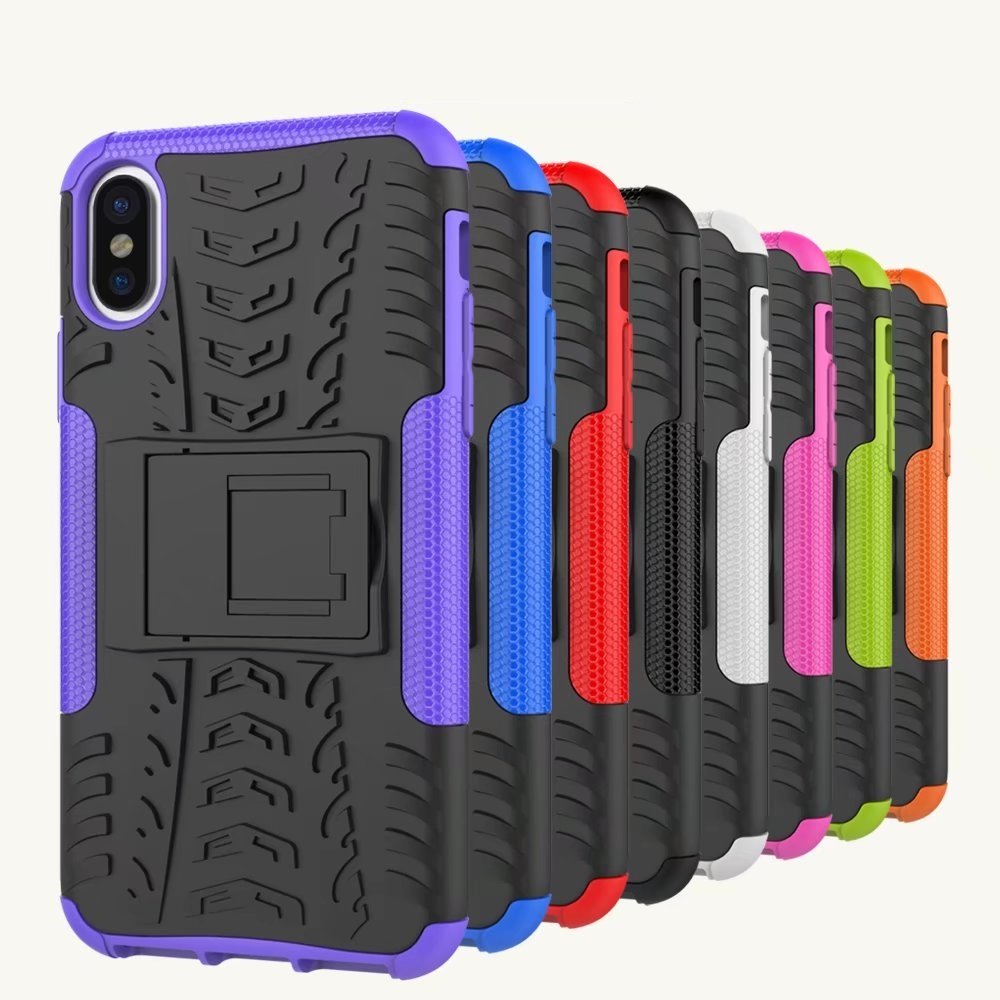 For 8G Dual Layer Hybrid hard Kickstand Armor Phone Cover