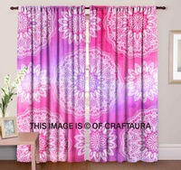 Bohemian Galaxy Curtains Indian Handmade Door Cover Drape Window Curtains Wall Hanging