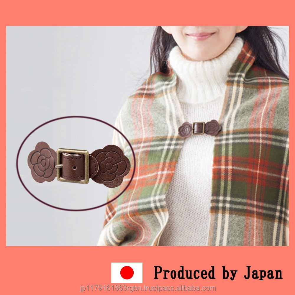 Convenient and Functional polyester scarf clip made in Japan