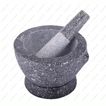 Natural top grade deep granite stone mortar and pestle mortar & pestle in variety sizes 3,4,5,6,7,8 inches