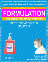 formula document for Detol Type anti Septic Liquid CHX