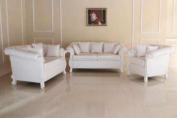 French Style Reproduction Furniture - Raizel Sofa Set Jepara Furniture