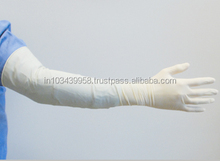 Latex Elbow Length Gynaecological Gloves Sterile Powdered
