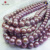 12-13 mm  Small Blemish Perfect Round Shape Purple Edison Freshwater Pearl Necklace