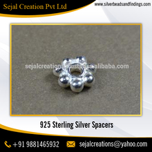 Ready Stock 3mm Indian Sterling Silver Spacer Beads