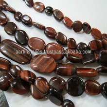 Red Tiger eye oval stone beads