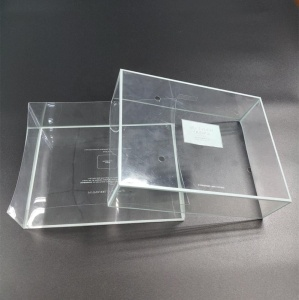 Transparent top and bottom plastic packaging box for candy Custom clear PET PVC plastic top bottom box
