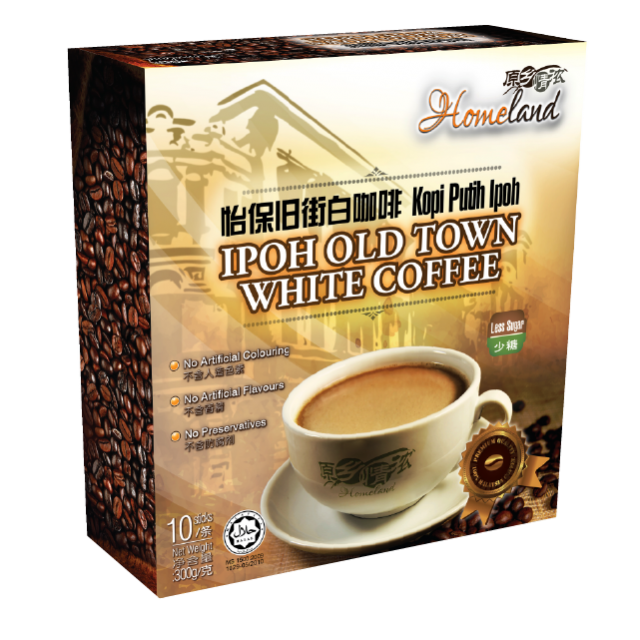 Homeland Ipoh Old Town 3 in 1 Less Sugar Instant White Coffee