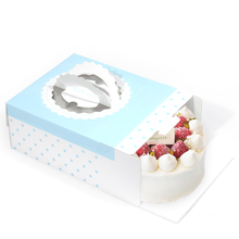 Cardboard Handle Cake Box with Cake Tray/Blue Dot No.1