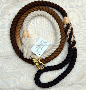 BROWN EARTHY TONE DOG ROPE LEASH SINGLE HOOK ROPE LEASH ACCEPT BRAND LOGO