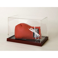 hot selling clear plastic boxing glove display case with mirror base