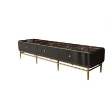 black modern contemporary stainless steel tv stand universal simple design marble top tv stand cabinet living room <strong>furniture</strong>