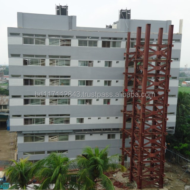 Steel structure in Industrial and Apartments.