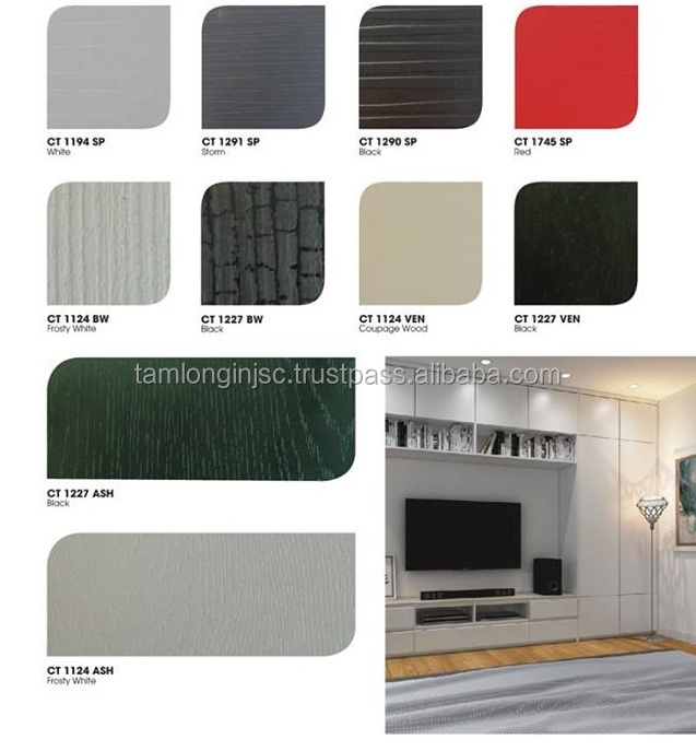 1220 x 2440 mm laminated pvc foam board for cabinet and door