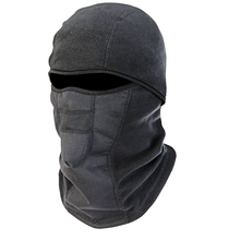 Thermal Fleece Wind-Resistant Hinged Balaclava, Black