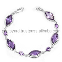 indian design hot sale amethyst 925 sterling silver necklace