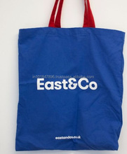 PROMOTIONAL BLUE BAGS IN CANVAS COTTON