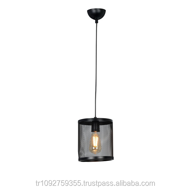 APLIQA ALFI SINGLE LIGHT BLACK PENDANT LAMP