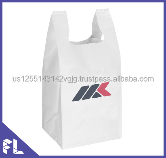 Custom Design Logo Printing HDPE Cheap T-shirt Shopping Plastic Bag
