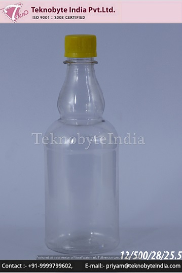 Plastic bottle 500 ml for JUICES & multipurpose uses made from 100% virgin pet preform