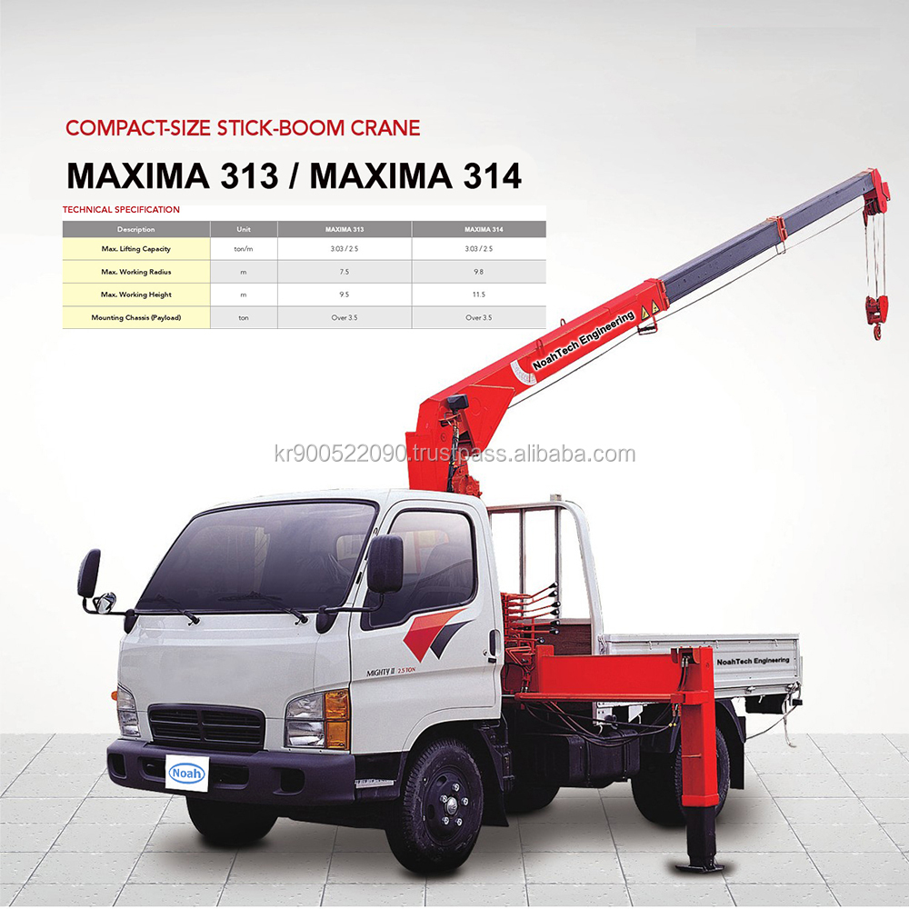 High Quality 2018 Best Price Stick Boom Lifting Stick Truck Crane .