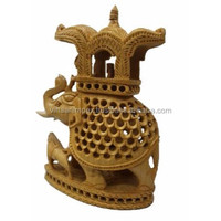 Wholesale Indian Designer Wooden Handicraft Undercut Oval Shape Marimba Elephant Best Home Office Decor & Gift Item